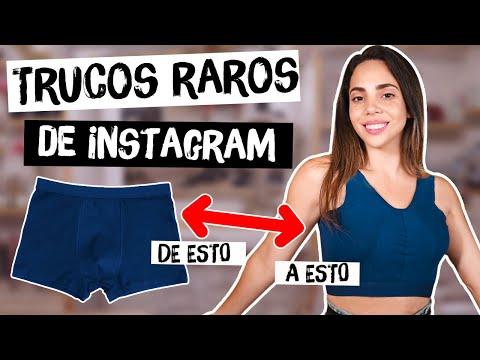 PROBANDO TRUCOS RAROS DE INSTAGRAM - tips engañosos?| What The Chic