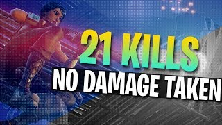 21 KILLS IN A ROW WITHOUT GETTING HIT! Full Gameplay (Fortnite Battle Royale)