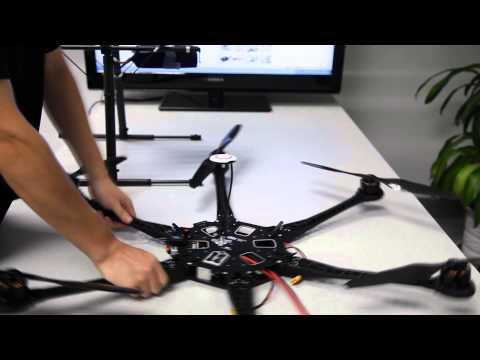 DJI Spreading Wings S800 Setup Demo-Arms&Landing Gear Mounting