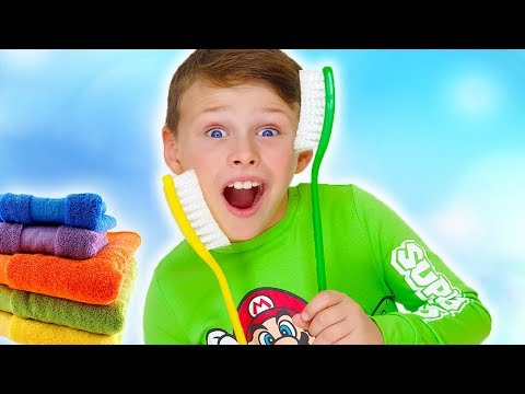 Brush Your Teeth! Kids Song Nursery Rhymes From Ali Baba