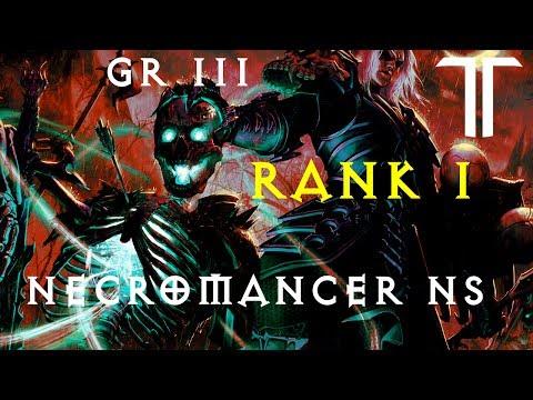 Diablo 3 RoS - NS - Necromancer 111 Greater Rift Solo (Rank 1 EU) (видео)