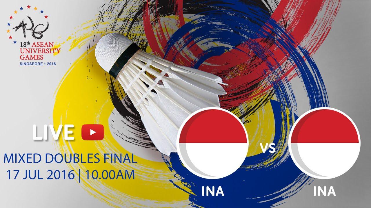 Badminton Mixed Doubles Finals | 18th ASEAN University Games Singapore 2016