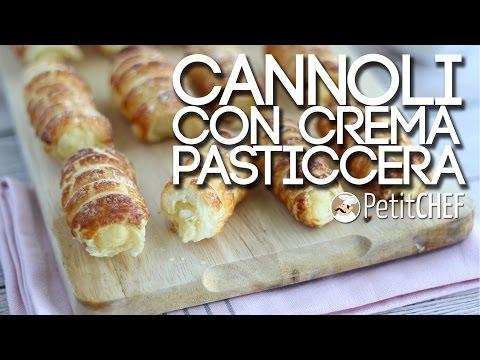cannoli di sfoglia con crema pasticcera - ricetta