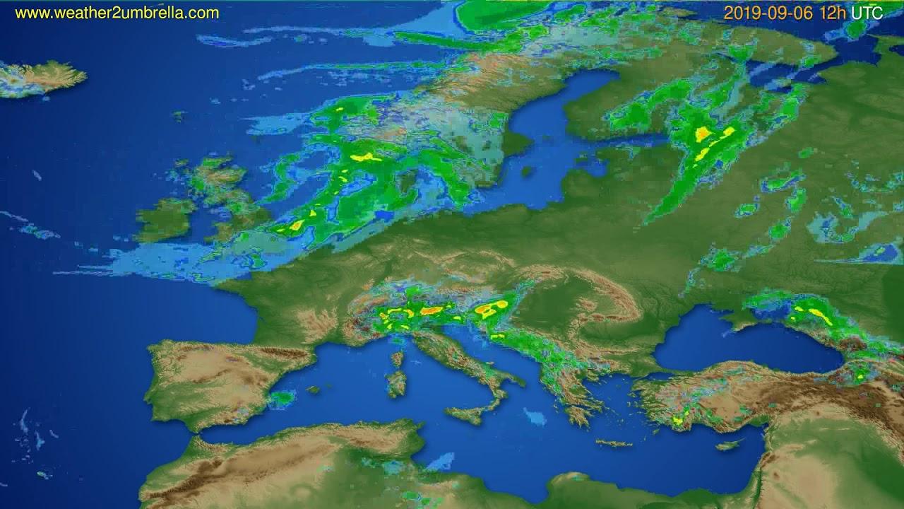 Radar forecast Europe // modelrun: 00h UTC 2019-09-06