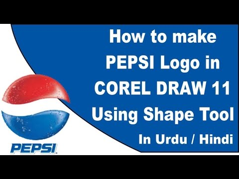 How To Use Shape Tool In Corel Draw 11 In Urdu / Hindi Creating The Pepsi Logo By Using Shape Tool