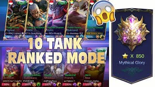 Video 10 TANK RANKED MODE !! FULL TOP GLOBAL (ADA LEMON, DAN EVOS ) !! MP3, 3GP, MP4, WEBM, AVI, FLV Juli 2018