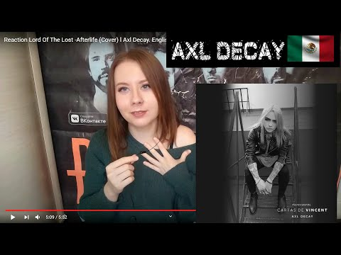 Reaction Lord Of The Lost -Afterlife (Cover) l Axl Decay. English subtitles #LordOfTheLost #AxlDecay