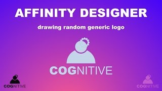This is not classic tutorial. It is more me playing with a new toy, vector software AFFINITY DESIGNER. It's just me drawing random generic logo just to test functionality and smoothness of software.