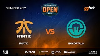 fnatic vs Immortals - DREAMHACK Open Summer - map3 - de_mirage [MintGod, CrystalMay]