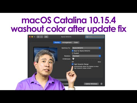 Fix washout color on HDR Capable display after macOS Catalina 10.15.4 update - 1K Subscribes Update!