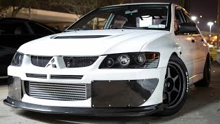 1000hp Mitsubishi EVO vs 1300hp CORVETTE! Video