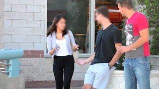 TOTALNY IDIOTA! – Gość sprzedał swoją dziewczynę na ulicy!