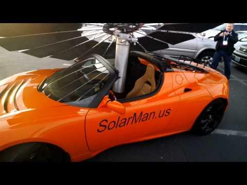 Lotus Solar Awning at CES 2014 #ThroughGlass