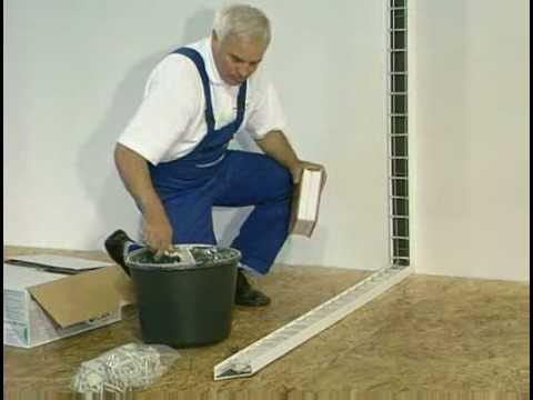 Montage traditionnel briques de verre