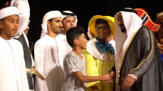 <h5>His Highness Shaikh Dr. Sultan Al Qasimi & Her Highness Sheikha Jawaher Al Qasimi attended the Sharjah Youth Celebration to review youth development & learning process throughout the two years </h5>