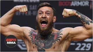 Video Conor McGregor vs Khabib Nurmagomedov weigh-in: Conor kicks out, Drake rocks Irish flag | UFC 229 MP3, 3GP, MP4, WEBM, AVI, FLV Juni 2019