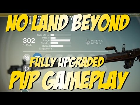 "Destiny - Exotic Sniper Rifle ""No Land Beyond"" Fully Upgraded PvP Gameplay"
