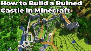 How to build an Awesome RUINED castle in Minecraft 1.14 Vanilla Survival