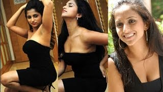Aashika in Black Dress Hot&Spicy Photos