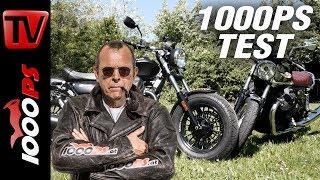 3. 1000PS Test - Moto Guzzi V7 III Anniversario gegen Moto Guzzi V9 Bobber - Moto Guzzi forever!