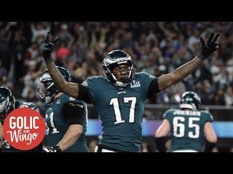 Eagles WR Alshon Jeffery played entire season with torn rotator cuff | Golic and Wingo | ESPN (видео)