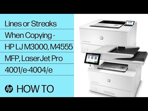 Lines or Streaks When Copying -- HP LaserJet MFPs