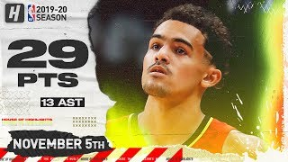 Trae Young Full Highlights vs Spurs (2019.11.05) - 29 Pts, 13 Ast, 2 Reb!