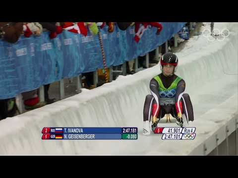 Women's Luge Singles Highlights - Vancouver 2010 Winter Olympic Games
