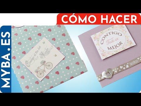 Tarjetas de amor - Tarjeta cuadrada con cierre de cinta y sobre a juego para San Valentín. Muy fácil.
