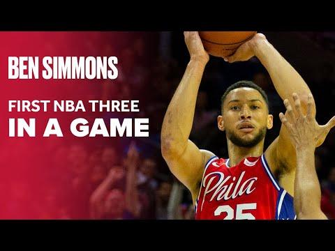 Ben Simmons Makes 3-Pointer, Joel Embiid and 76ers Go Wild   Philadelphia 76ers NBA Preseason