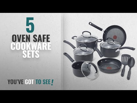 Best Oven Safe Cookware Sets [2018]: T-fal E765SC Ultimate Hard Anodized Scratch Resistant Titanium