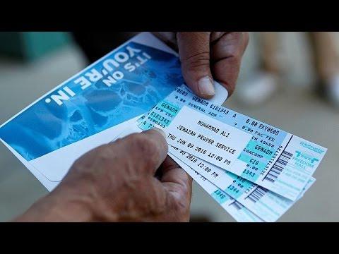 Ουρές για ένα εισιτήριο για την κηδεία του Μοχάμεντ Άλι