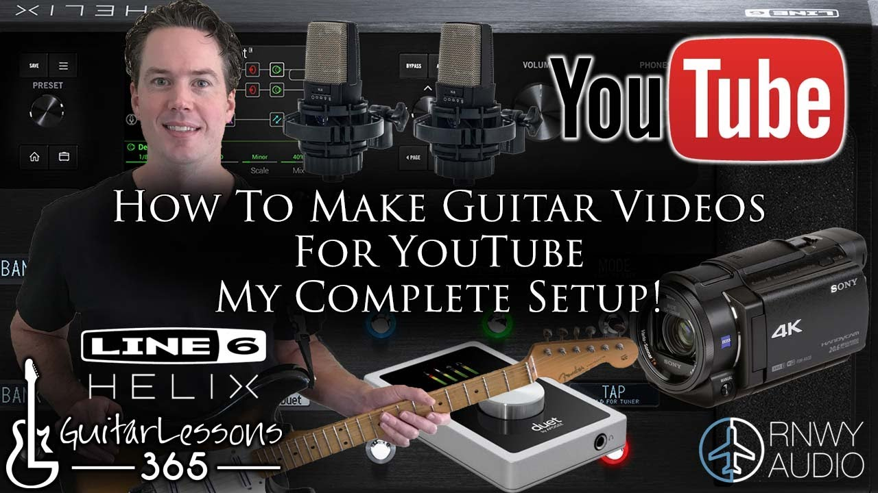 How To Make Guitar Videos For YouTube – My Complete Setup