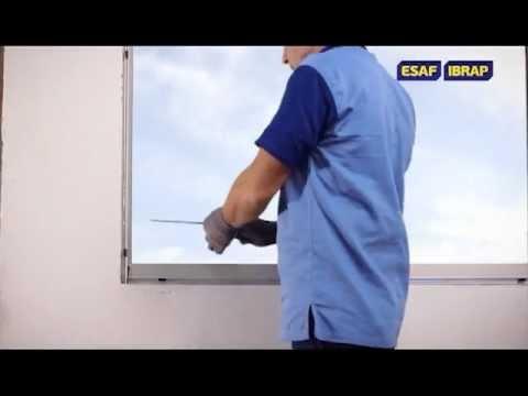Instalação de esquadrias ESAF IBRAP com Parafuso