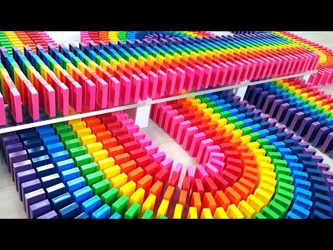Você gosta de ver reações em cadeia de dominós?