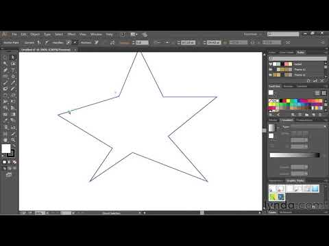 Drawing Straight Lines With The Pen Tool | Adobe Illustrator CC | Lynda.com