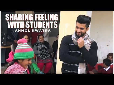 Anmol Kwatra -: Sharing Feeling With Students