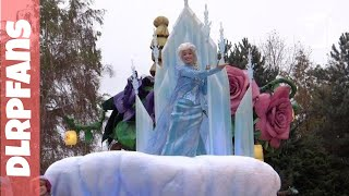 Disneyland Paris Christmas 2013 Disney Magic on Parade christmas part and new Frozen float