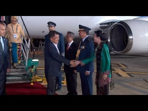 Arrival Of Jusuf Kalla, Vice-president Of Indonesia