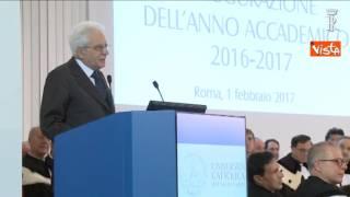 Sergio Mattarella: «L'importanza della cura della persona è priorità»