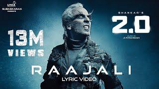 Raajali (Lyric Video) - 2.0 [Tamil]   Rajinikanth, Akshay Kumar   A R Rahman   Shankar