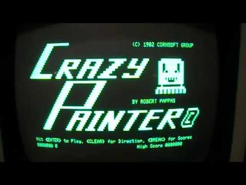 Crazy Painter - 1982 TRS-80 Model I/III/4 game