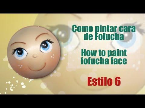 Cómo pintar cara de fofucha Lagoona Fire Monster High | Manualidades