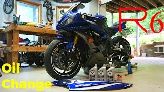8. ('06-'16) Yamaha YZF-R6 First Oil Change: DIY Maintenance