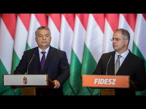 Orbán Viktor miniszterelnök kedden, sajtótájékoztatón az Országházban.