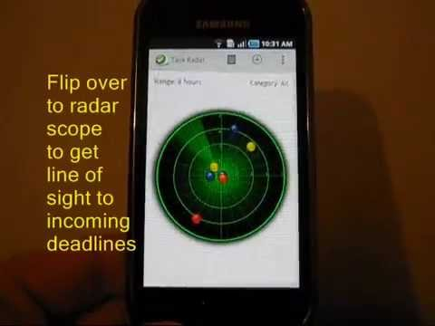 Video of Task Radar - Task List