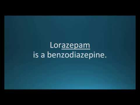 How to pronounce lorazepam (Ativan) (Memorizing Pharmacology Flashcard)
