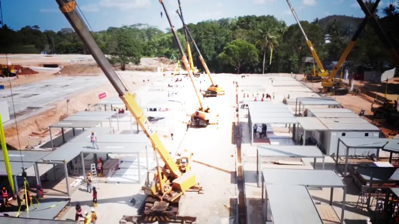 Pembangunan Fasilitas Gedung Karantina & Observasi Pulau Galang – Batam 21 Maret 2020