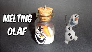 How to Make a Miniature Bottle Charm: Frozen's Melting Olaf - YouTube
