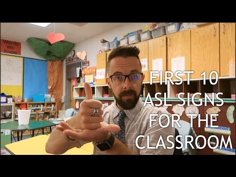 Top 10 ASL Signs For The Classroom (Vlog 240)